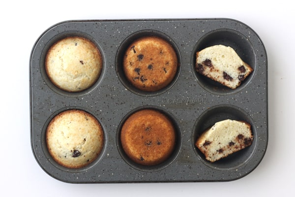 Toaster Oven Baked Muffins in a Casaware Muffin Pan